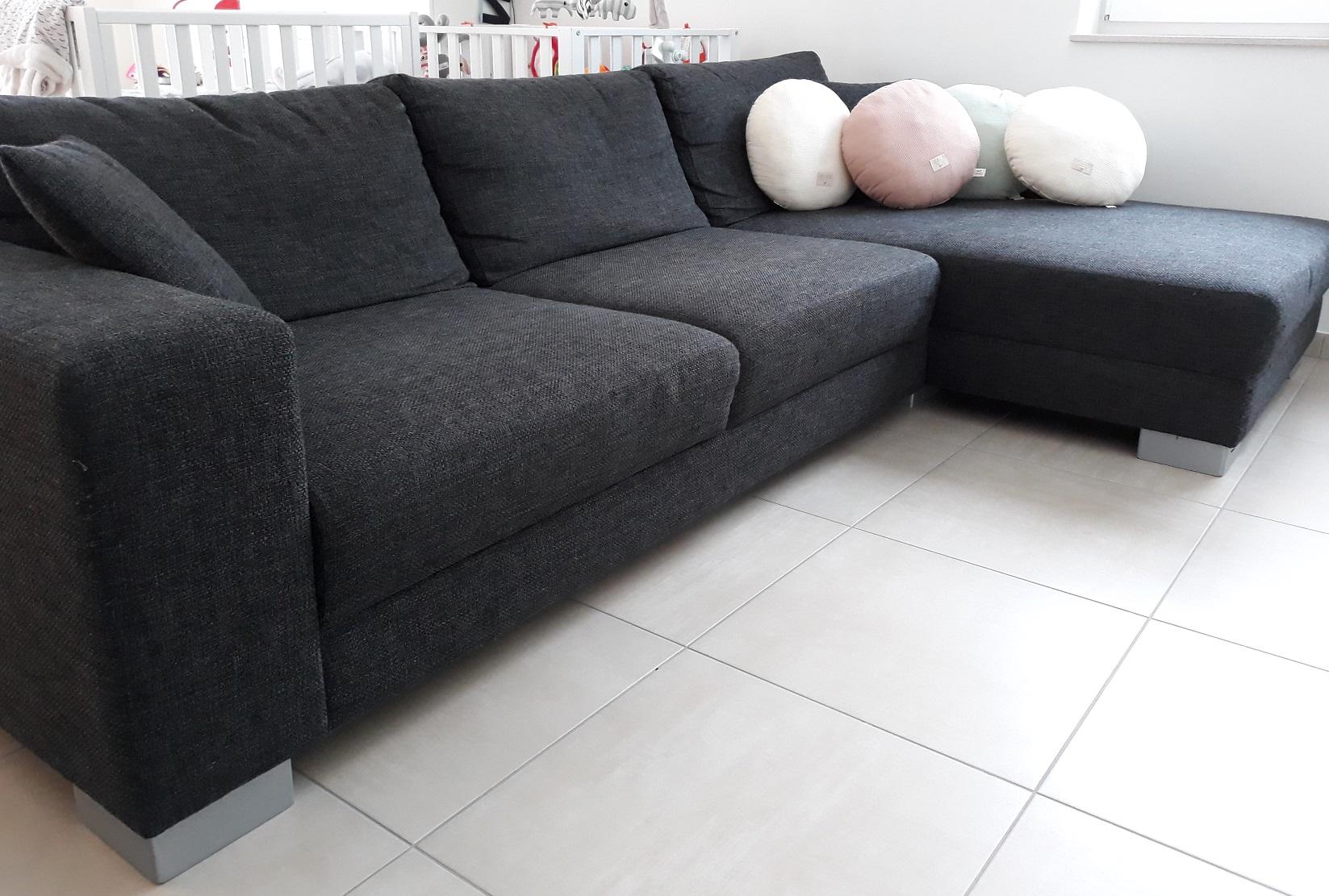 Sofa Noir Chaise Longue 3c Candy Bazar Lu